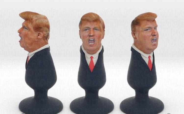 Political Sculptor A Mexican immigrant has created a Donald Trump buttplug  http://www.shapeways.com/product/SCD3B2NJD/donald-trump-plug